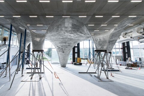 An Ultra Thin Double Curved Concrete Roof Architect Magazine