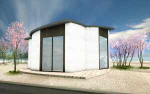 3D printhuset is a completed, 3D printed building on demand (BOD) in Europe.