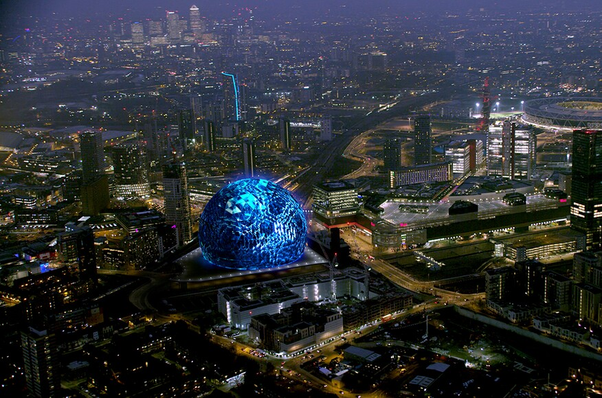 msg sphere london architect magazine populous london uk