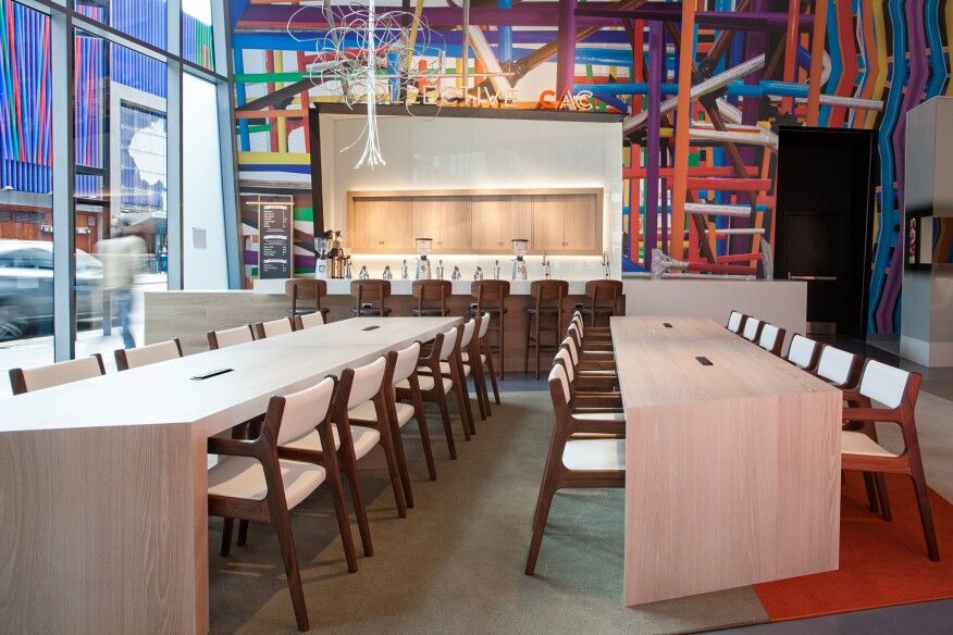The rosenthal center for contemporary art 39 s ill advised lobby renovation architect magazine for Art institute interior design reviews