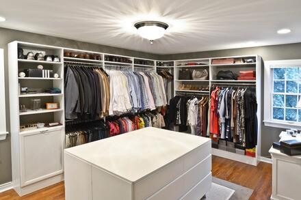 Organized living master closet home renovation