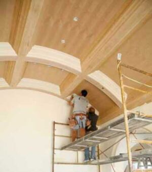 when my brother first told me about it the job seemed like an over the top challenge installing a coffered ceiling in a barrel vault - How To Vault A Ceiling