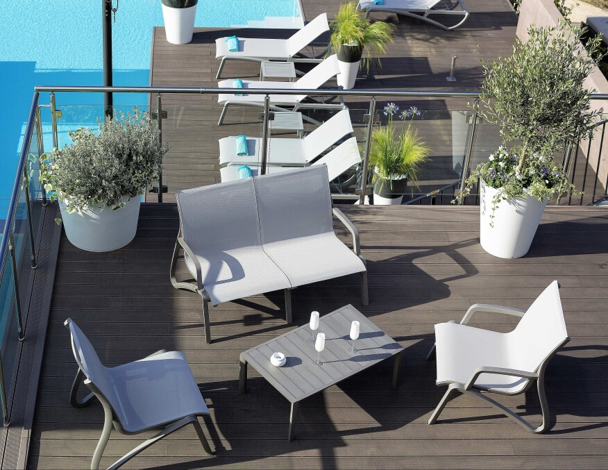 The Sunset Seating and lounge group is Contract Furnishing's next  generation of American lifestyle outdoor furniture. Its smooth flowing  lines offer comfort ... - Contract Furnishings Unveils New Outdoor Furniture LineAquatics