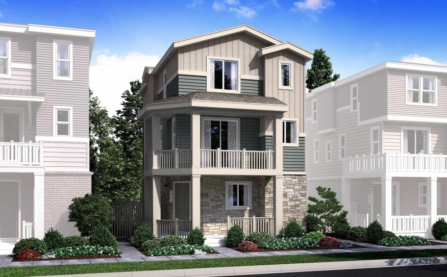 Century Communities will offer 94 three-story, detached condominiums in The Heights community.