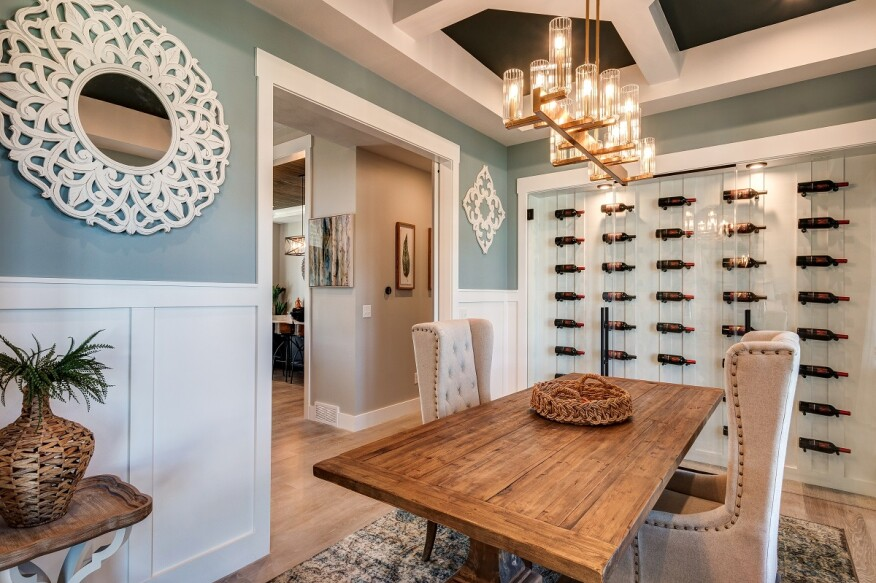 Project Gallery: Feature Wine Wall Adds Interest to This ...