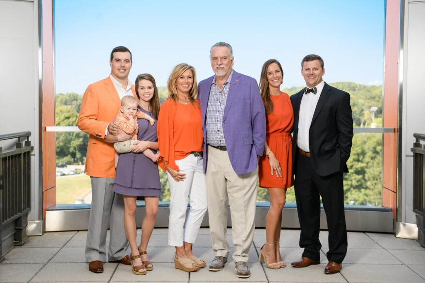 The Nieri family was recognized for their generous gift during an event at Clemson University.