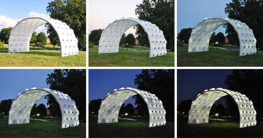 Designlabworkshop S Solar Bytes Pavilion Illuminates The
