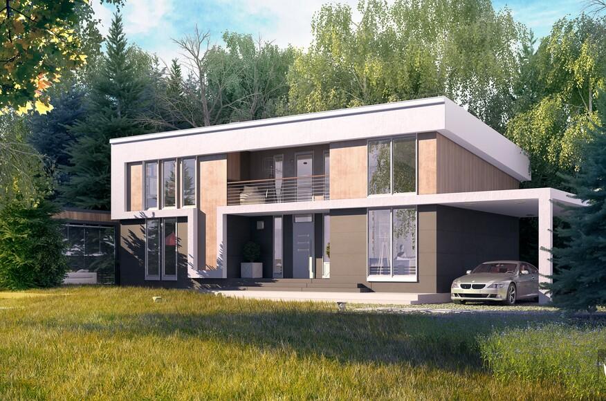 Two Story Modern House Md Creative Studio Architect Magazine