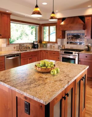 Granite With A Leathered Finish Is A Go To Product For