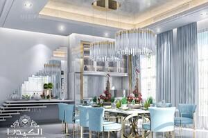 Contemporary Dining Room Interior Of Luxury Villa In Dubai Architect Magazine