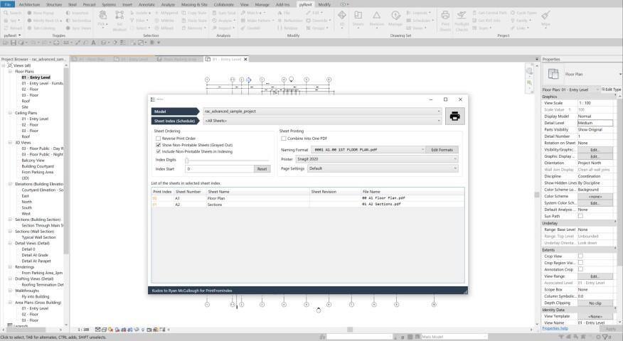 Complément PyRevit pour Autodesk Revit