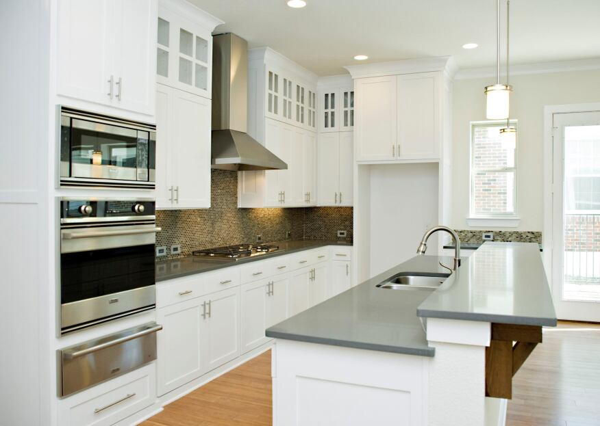 Nkba survey reveals what design choices are trending in for Arctic white kitchen cabinets