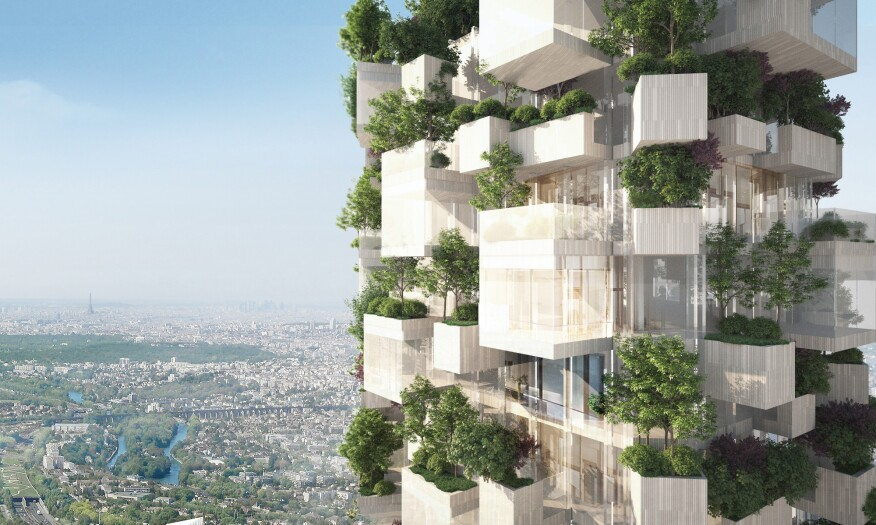 Wooden Apartment Tower Designed For Green Complex In Paris Multifamily Executive Magazine Development Wood Building Materials