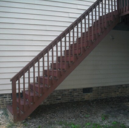 A 2x12 Stringer Has Maximum Unsupported Span Of 6 Feet These Stairs Are Likely