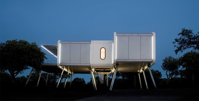 A Prefab Spaceship Home Inspired by