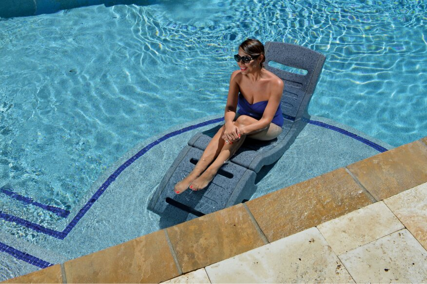 The New Rock R Lounge Is An In Pool Chair That Can Be Used Or Around Any Its Designed Specifically To Meet Demands For Seating Pools On Sun