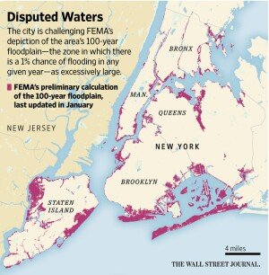 Map Of Greater New York City Area.New York City Disputes Fema Floodplain Maps Jlc Online