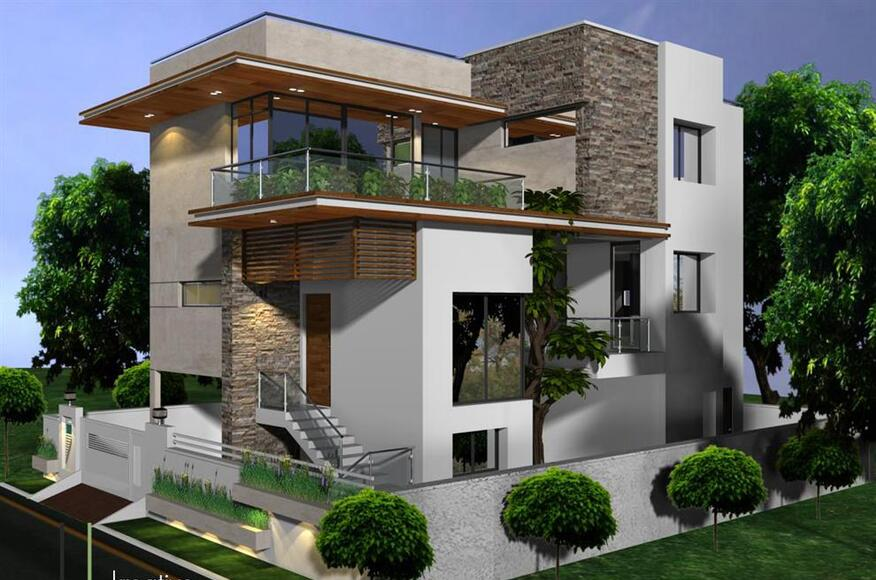 Front Elevation Texture : Independent houses in hyderabad architect magazine