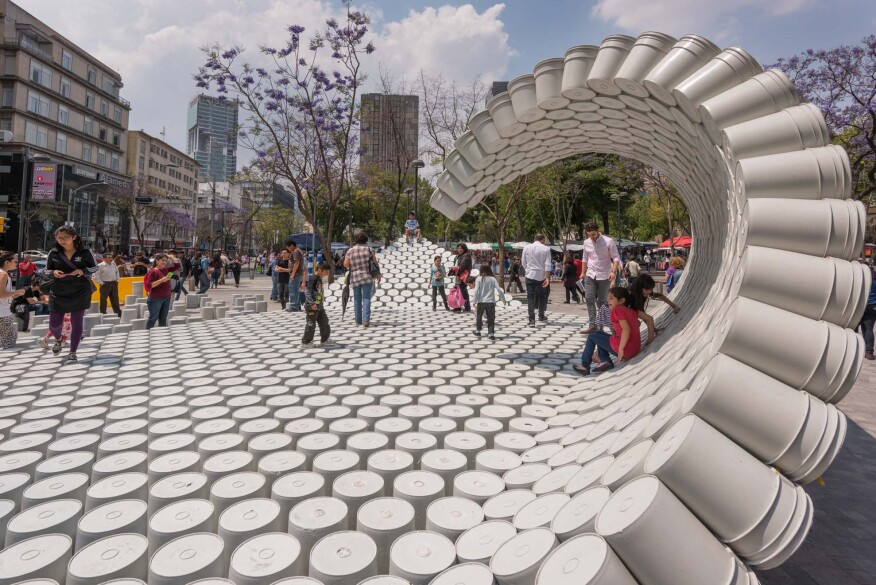 An Installation Made Entirely of Buckets | Architect Magazine