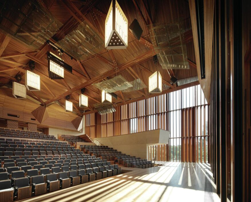 The auditorium at the university of queensland architect magazine