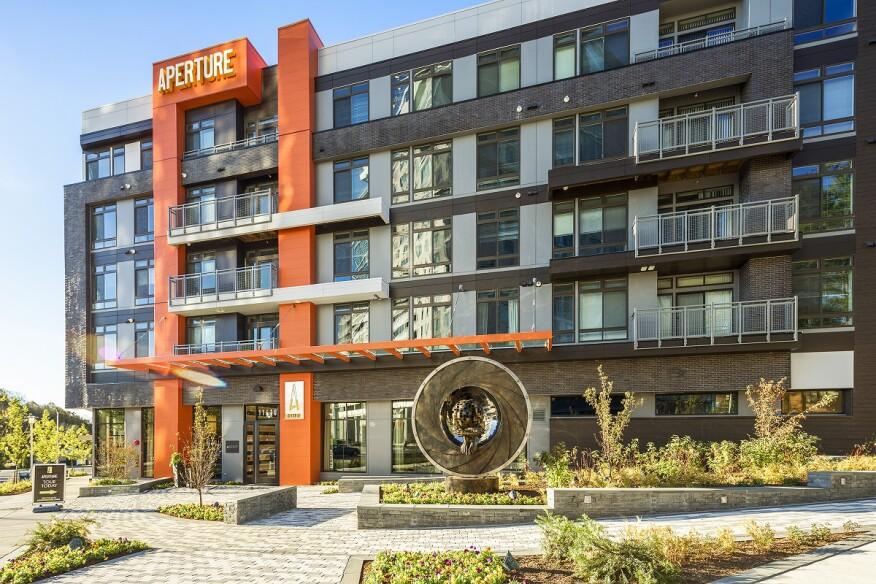 KTGY designed Aperture Apartments in Reston, Va., to bring a city feel to the suburbs outside Washington, D.C.