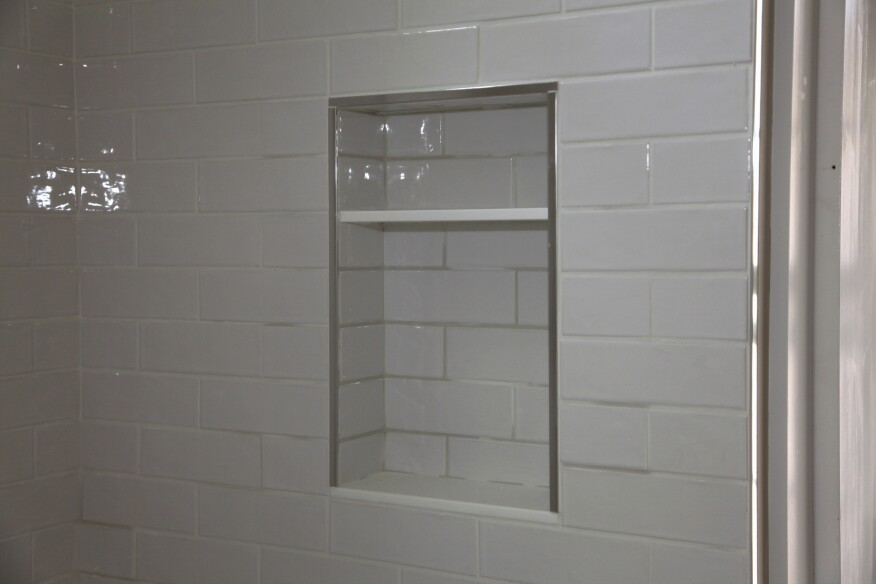 Most Of The Time I Install A Solid Piece Stone Or Some Other Product For Bottom Shelf Pitched Outward Slightly Drainage