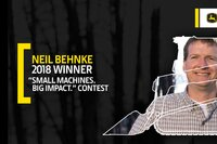 """Winner of the 2018 """"Small Machines. Big Impact"""" Contest Announced"""