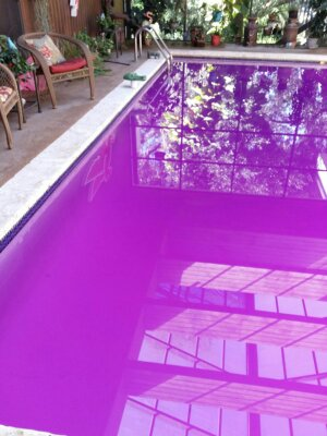 While manganese stains look similar to those from copper cyanurate, they affect the pool and water differently.