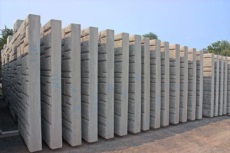 Precast Stone Walls : Smith midland completes precast wall concrete producer