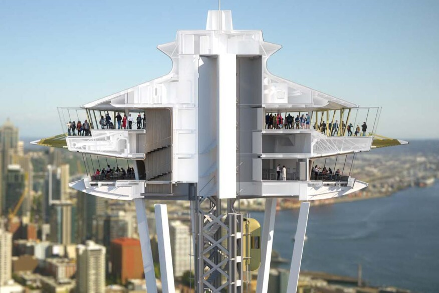 space needle s renovation project begins architect