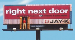 New Hartford N Y Won T Soon Forget Jack O Trade Jay K Lumber S Guy On The Boards And Star Of Its Three Dimensional Billboard Campaign