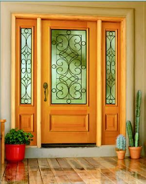Simpson door company mastermark entry door custom home magazine the mastermark entry door line now includes two doors with decorative wrought iron encased between two panes of textured glass planetlyrics Images