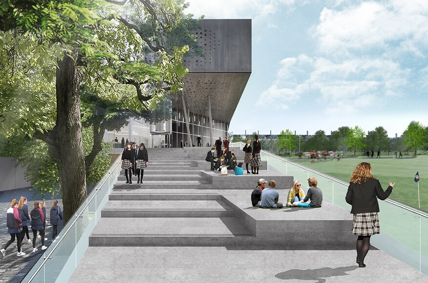 Brighton college sport and sciences building architect - Office for metropolitan architecture oma ...