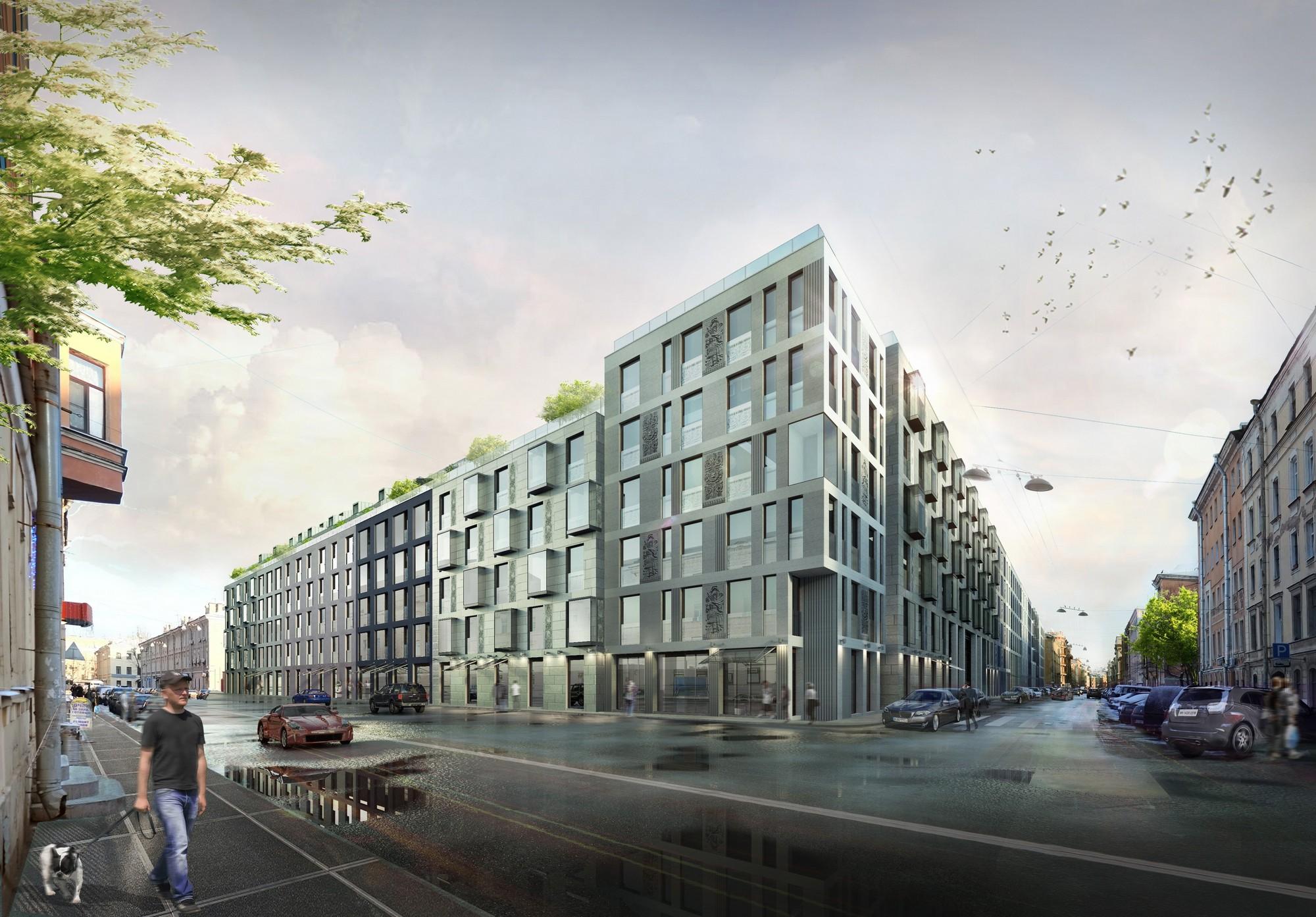 multicompartment residential building on korolenko street