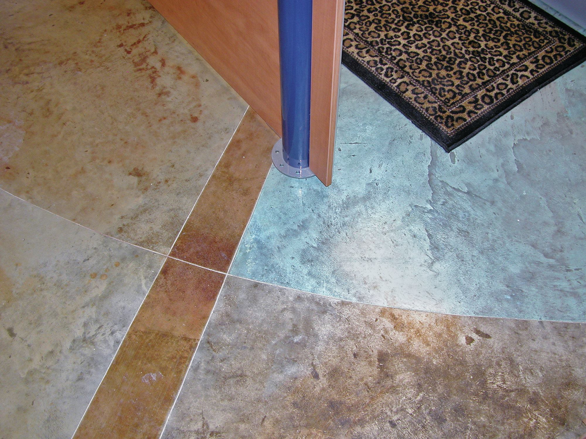 Tips for successful acid staining of concrete floors for Concrete advice