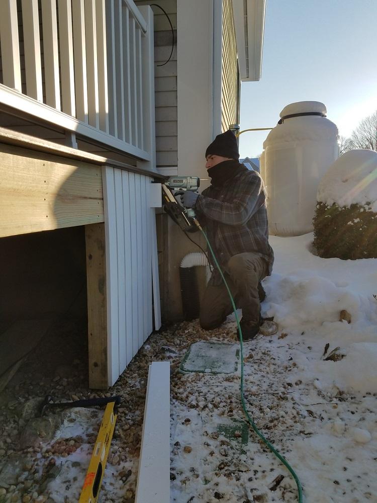 Wintertime Deck Building Professional Deck Builder