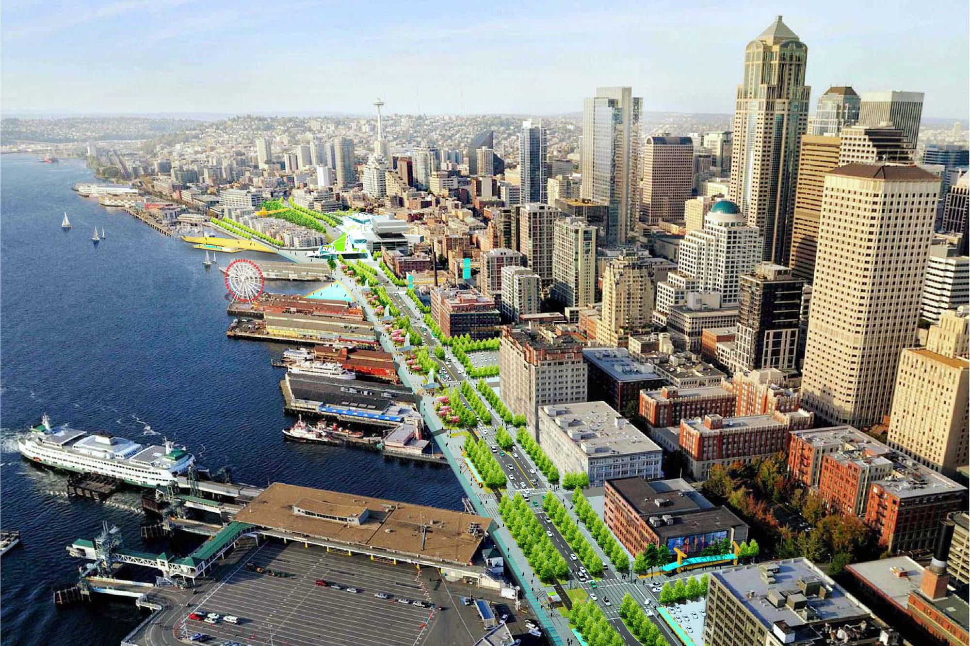 seattle central waterfront architect magazine james corner field