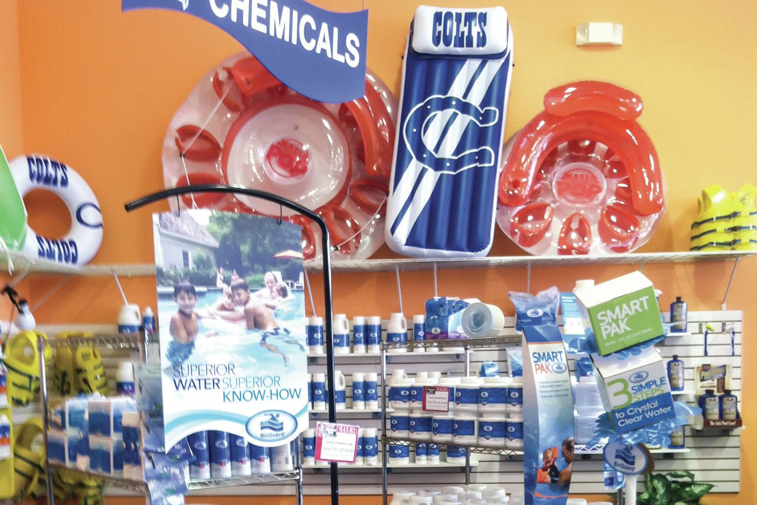 Chemical Displays Keep Customers Coming To The Pool Store
