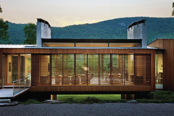 Bridge house kent conn architect magazine award for Ville lussuose interni