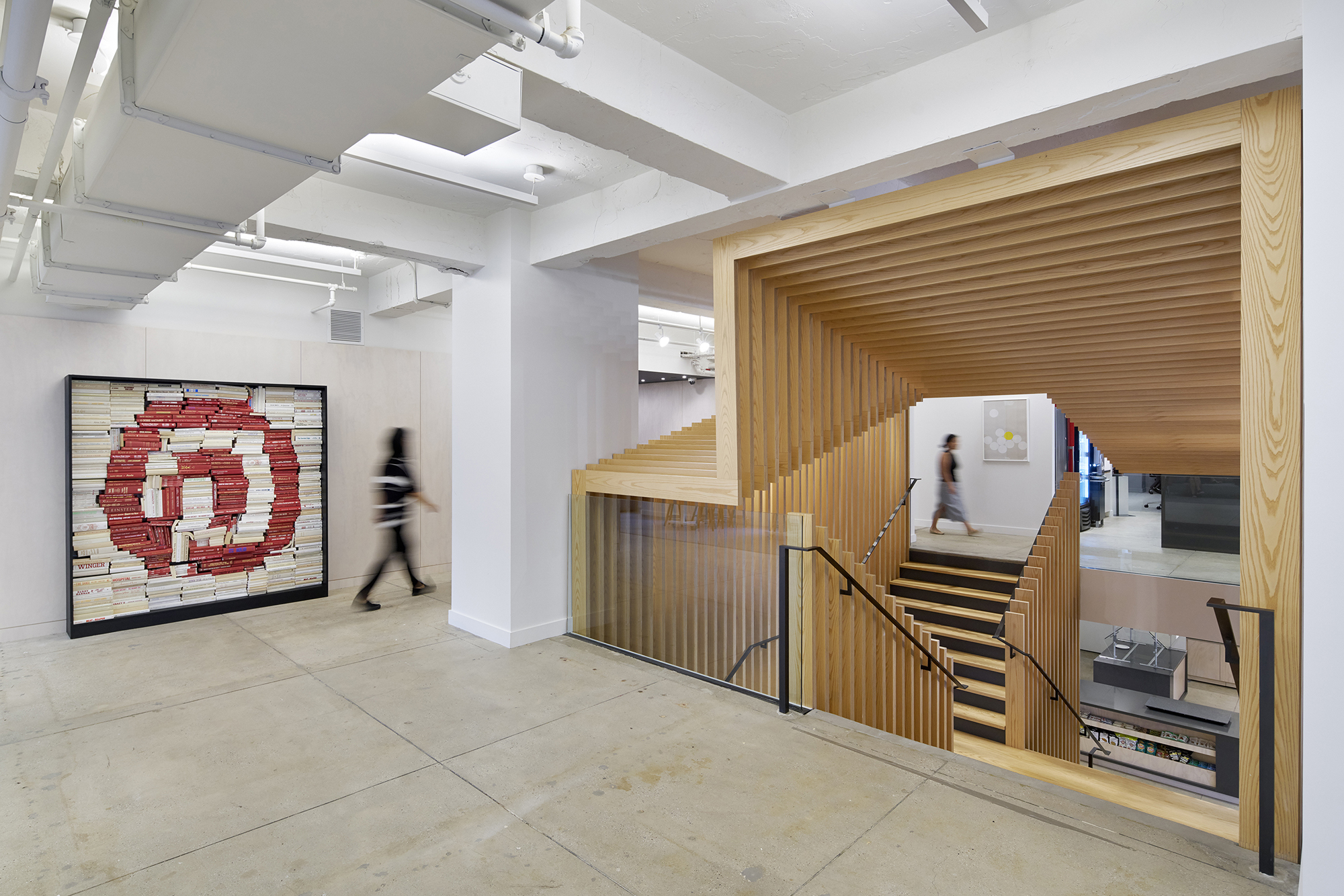 Pinterests new york office scissor stair