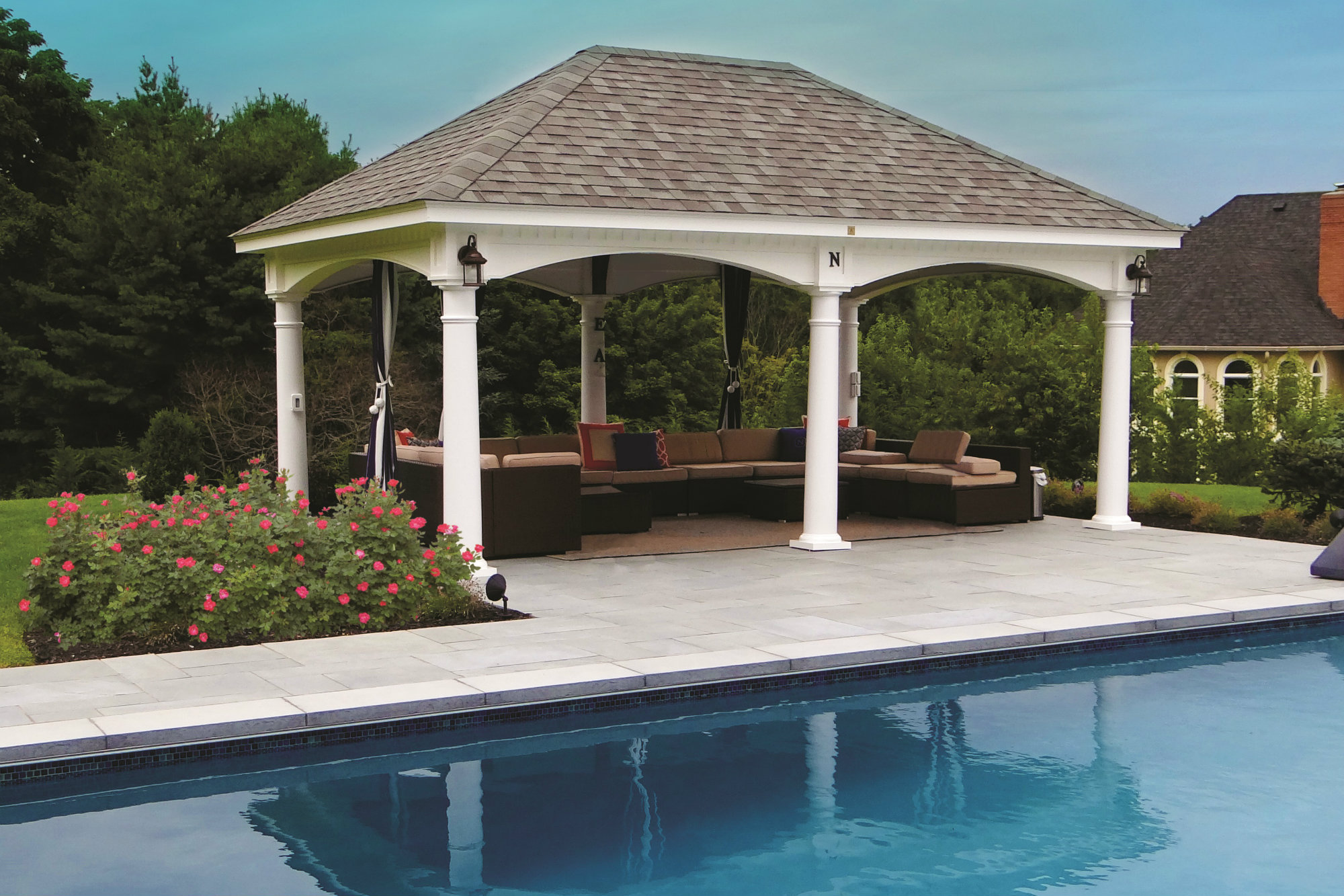Amish Country Gazebos Offers New Tuscany Pavilion Pool
