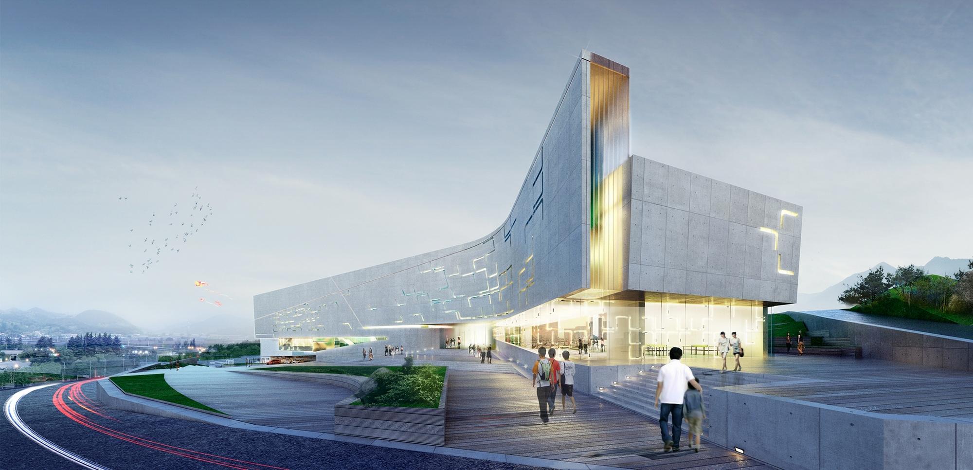 Sports Complex Project For The Daegu Gun Region Daegu City South Korea Architect Magazine