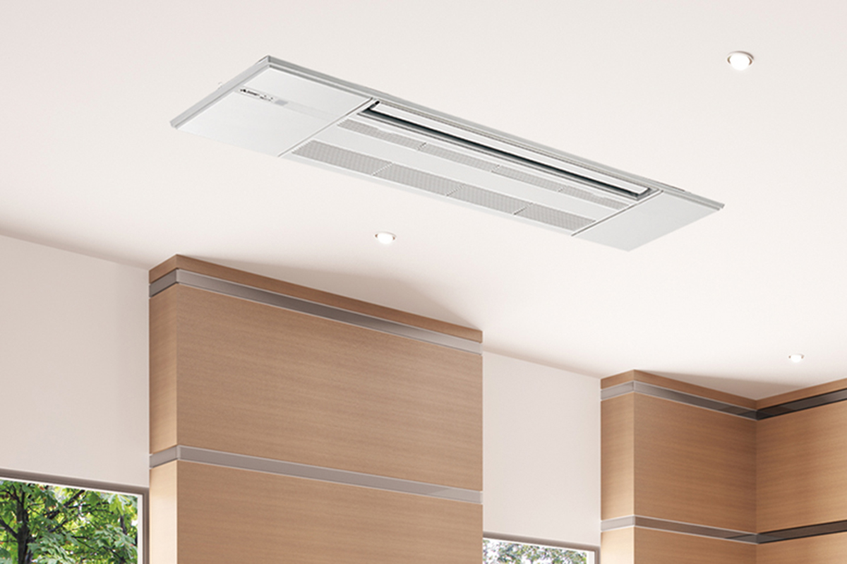 Mlz Series One Way Ceiling Cassette By Mitsubishi Electric