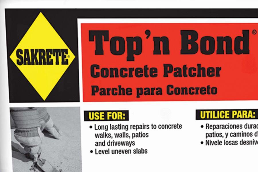 Sakrete + Top 'n Bond cement repair mortar| Concrete