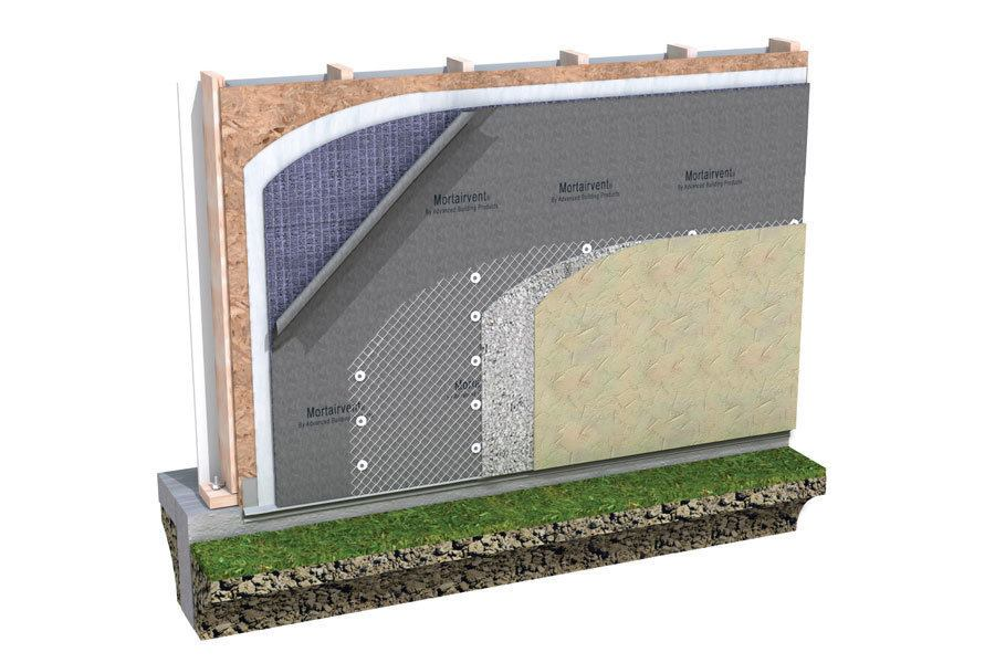 Advanced Building Products Mortairvent Membrane Jlc