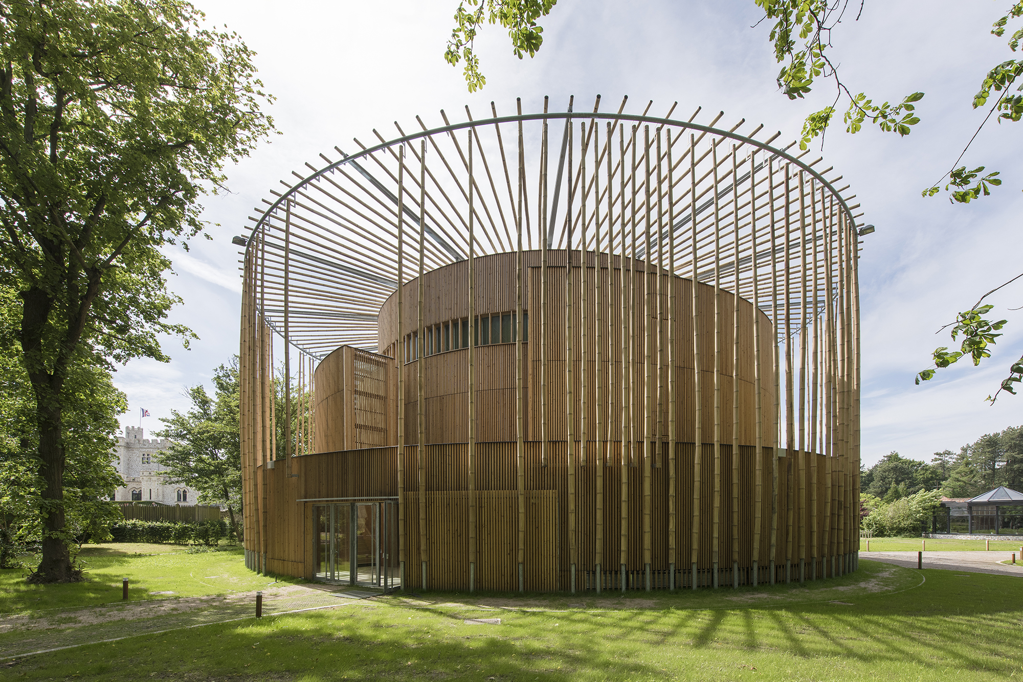 Ch 226 Teau D Hardelot Theater Curved Panels Architect