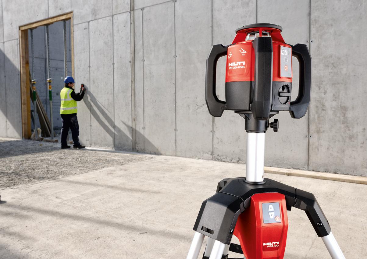 Hilti Pr 30 Hvs Rotating Laser Concrete Construction Magazine