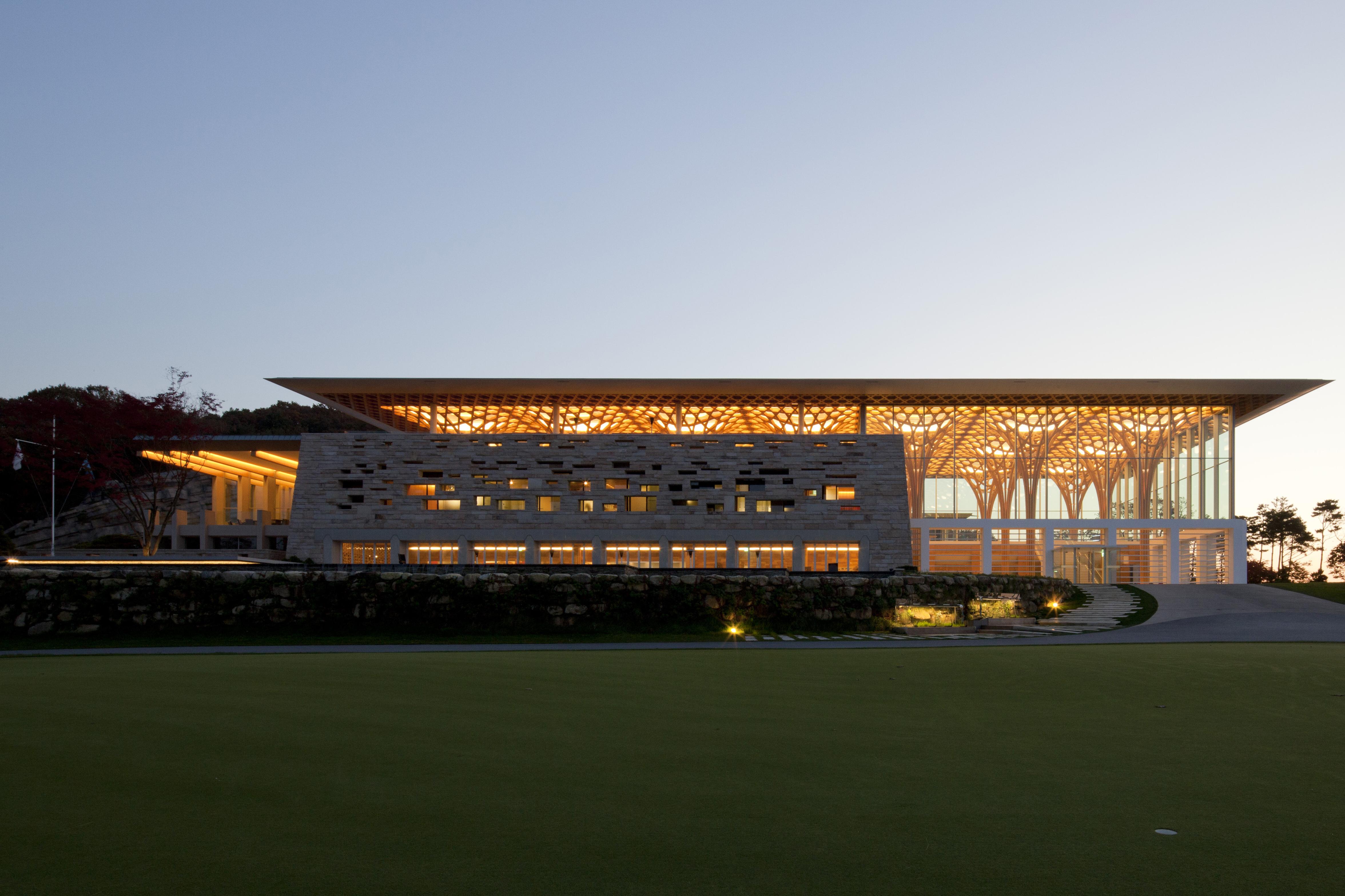 Haesley Nine Bridges Golf Clubhouse Architect Magazine
