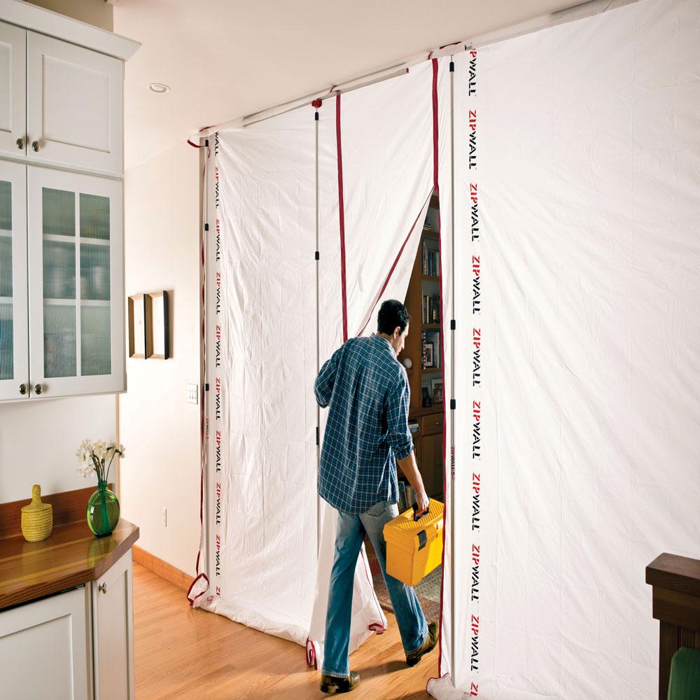 Zipfast Reusable Dust Barrier Panel System From Zipwall