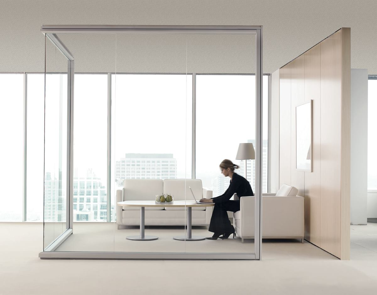 Optos Seamless Glass Walls From Teknion Arhitectural